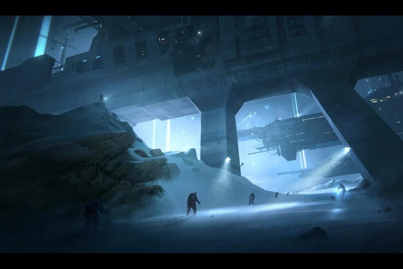 Alpha Coders Wallpaper Abyss Sci Fi Landscape 113130