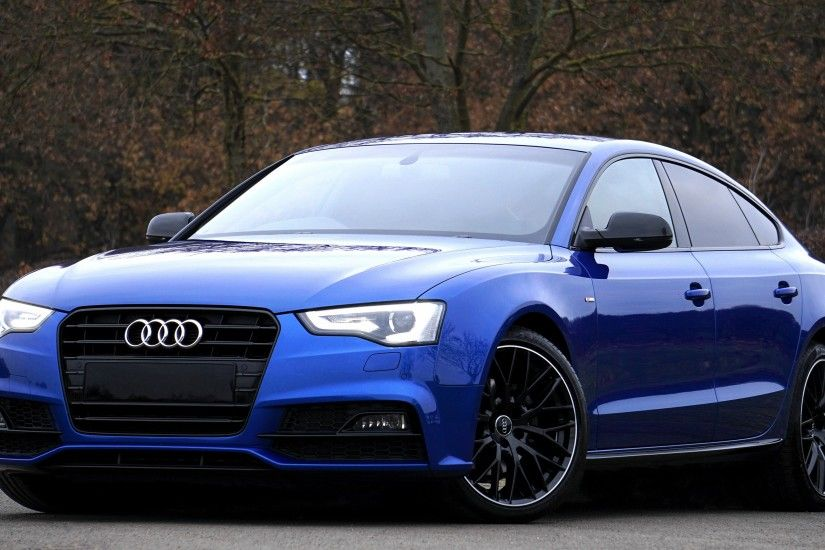 Preview wallpaper audi, a5, blue, side view 3840x2160