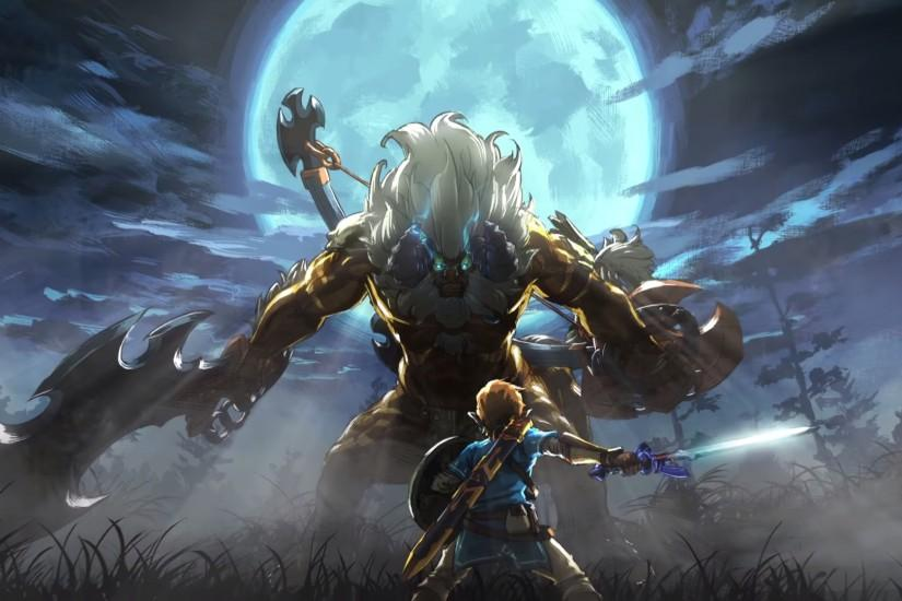 Large Legend Of Zelda Breath The Wild Wallpaper 1920x1080 Iphone