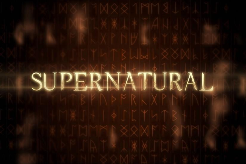 Season 8 Free Logo Supernatural Wallpaper HD.