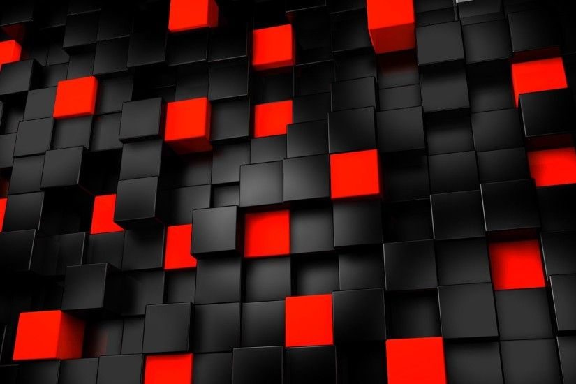 Black And Red Wallpaper Cube