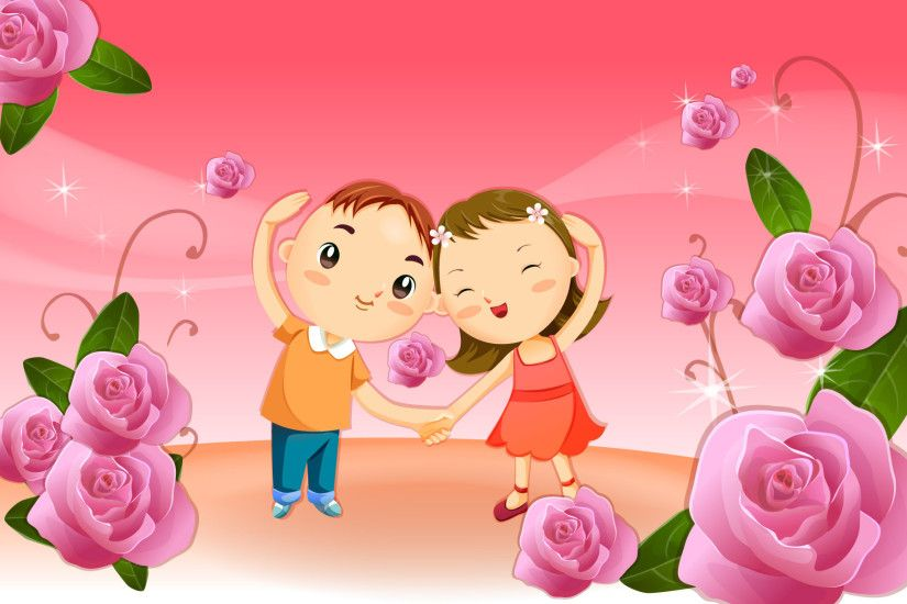 Cute cartoon couple wallpaper #7435