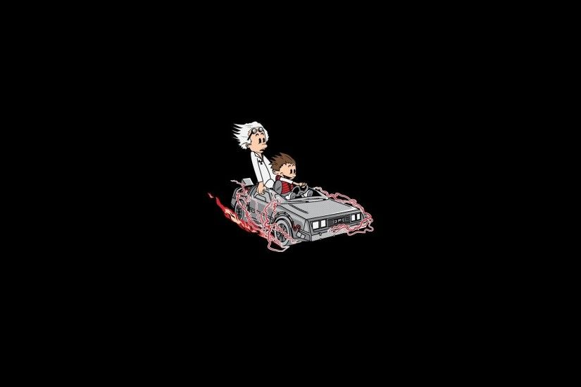 Back to the Future, Calvin and Hobbes Wallpaper HD