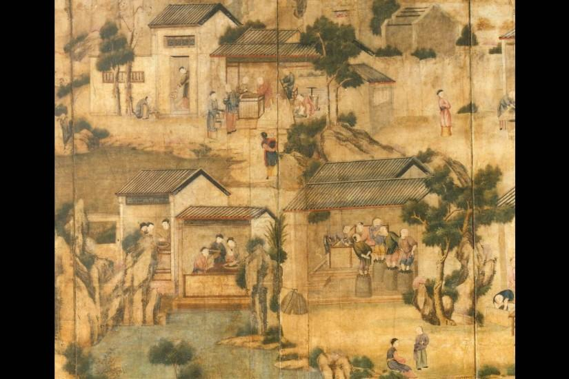 Chinese wallpaper belonging to Thomas Coutts, c.1793