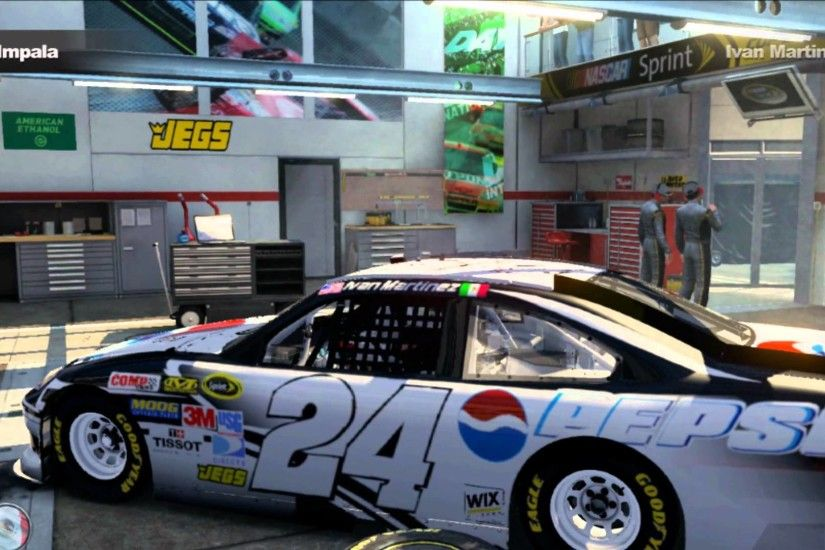 Nascar The Game 2011 Custom Cars: Jeff Gordon Pepsi Ice and Pepsi Frost (My  own design) - YouTube