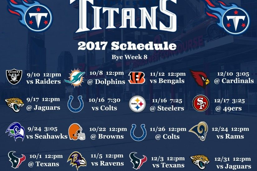 Tennessee Titans 2017 Schedule Wallpaper Download  http://www.nashvillesportsnews.com/