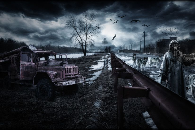 rain area night wolf wolves apocalyptic dark wallpaper background .