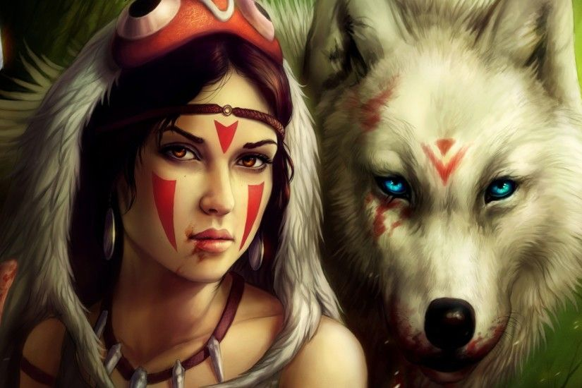 San Mononoke Hime / Princess Mononoke Full HD Wallpaper and .