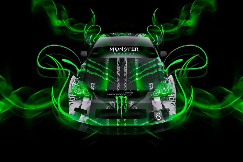 Monster Energy Toyota Altezza Jdm Plastic Car Monster Energy FullHD  Wallpaper
