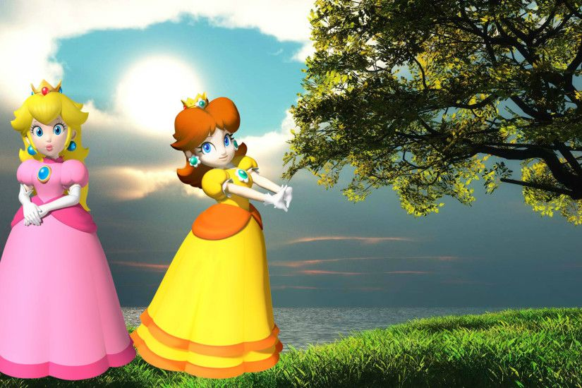... Princess Peach and Princess Daisy Wallpaper by weissdrum