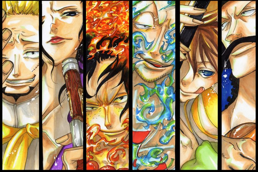 Thatch Izo Ace Marco Haruta Vista One Piece Whitebeard Pirates