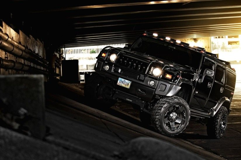 Black Hummer Car With Dark Background HD Wallpaper,HD Wallpaper,Sports Car  Wallpaper,Car Wallpaper,Most Expensive Car Wallpaper