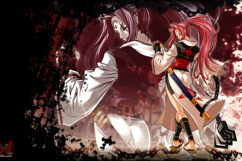 Tags: Anime, GUILTY GEAR, Baiken (Guilty Gear), Wallpaper, HD