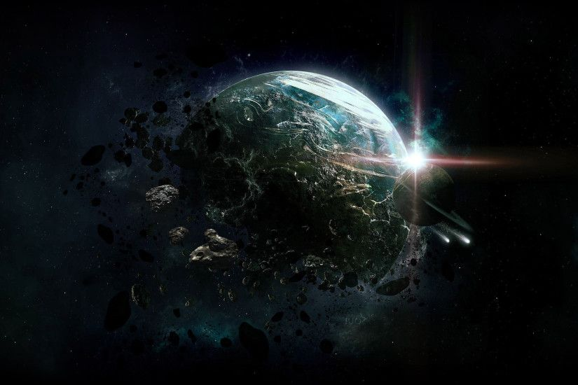 Destroyed Planet wallpaper - 1051651
