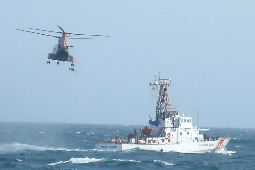 File:United States Coast Guard Cutter Block Island and Helicopter.jpg