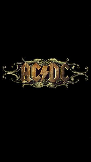 ACDC Rock Band Logo iPhone 6 Plus HD Wallpaper ...