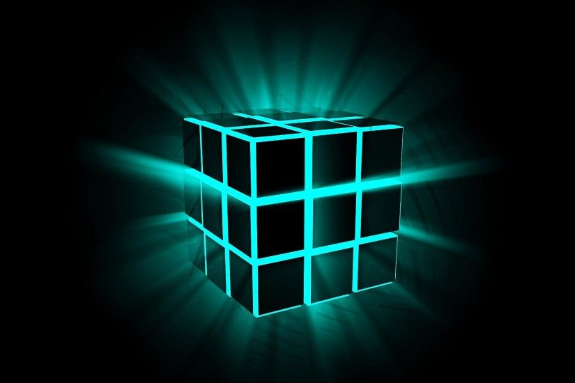 Shine 3d Cube On Black Background New Hd Wallpapernew Wallpaper
