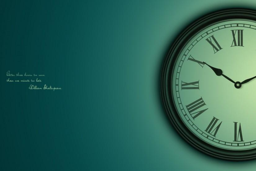 Wallpaper Clock, Time, Dial, Saying, Sage