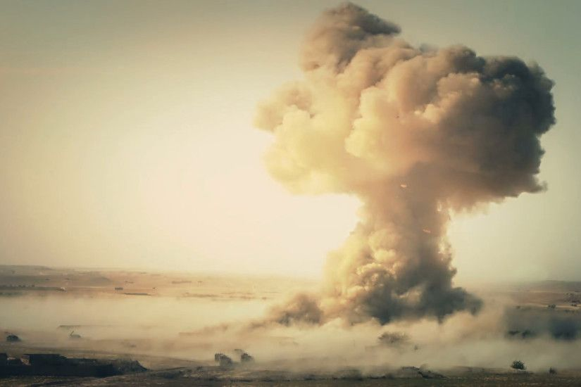 Mushroom Cloud animation with vignette Stock Video Footage - VideoBlocks