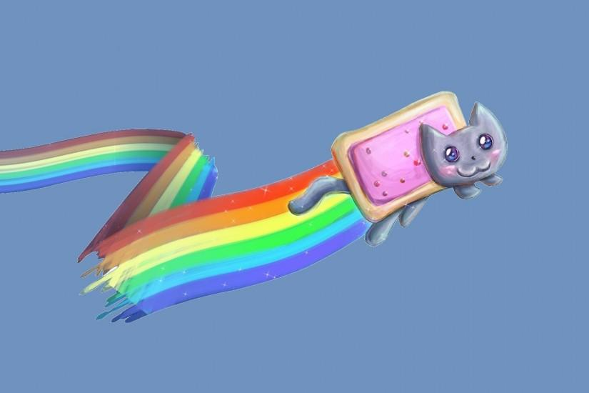 Download wallpaper rainbow, Nyan cat, Nyan Cat, section minimalism in  resolution 1920x1080