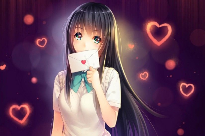 Love letter addressed to you, anime girls, cute, beautiful, love wallpaper  thumb