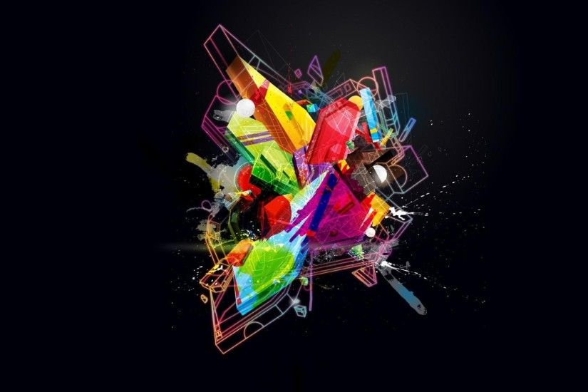 Cool Colorful Art Background - New HD Wallpapers