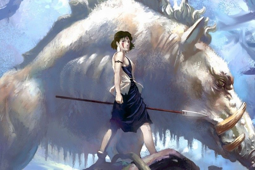 Studio Ghibli, Anime, Anime Girls, Princess Mononoke