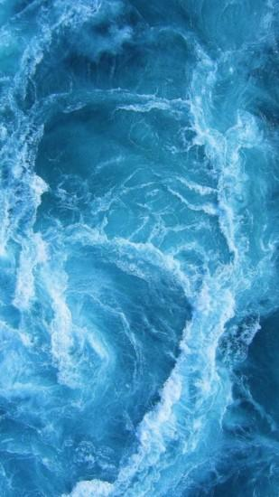 Swirling Blue Ocean Waves iPhone 6+ HD Wallpaper