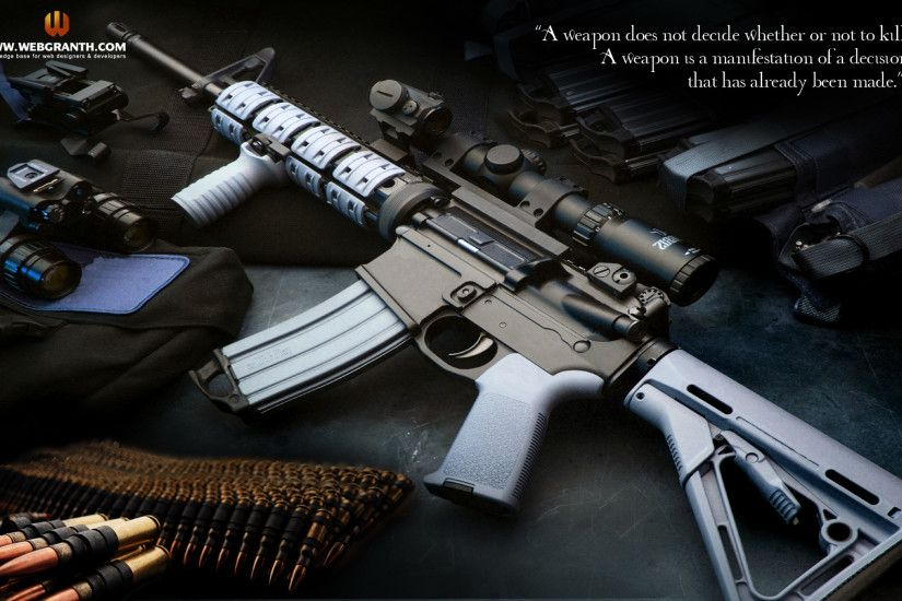 Gun Wallpapers- Webgranth has huge collection of best guns and weapons  wallpapers. All wallpapers are designed by our professional images and  wallpapers ...
