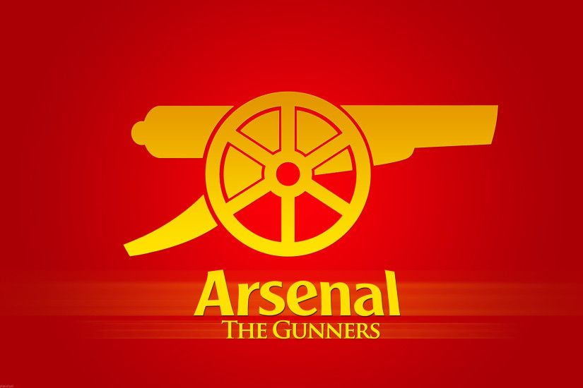 FC Logo On Red Background The Gunners 1920X1200 WIDE Soccer / Football