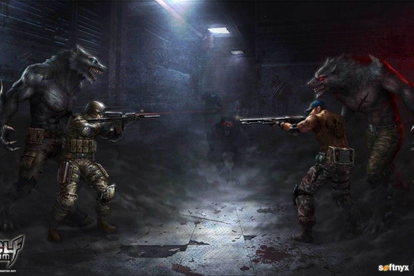 WOLFTEAM shooter fps action fighting fantasy wolf wolves werewolf dark team  1wteam warrior wallpaper
