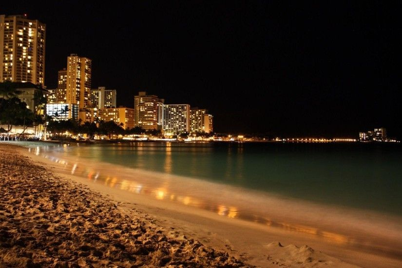 Wallpapers For > Summer Beach Night Wallpaper