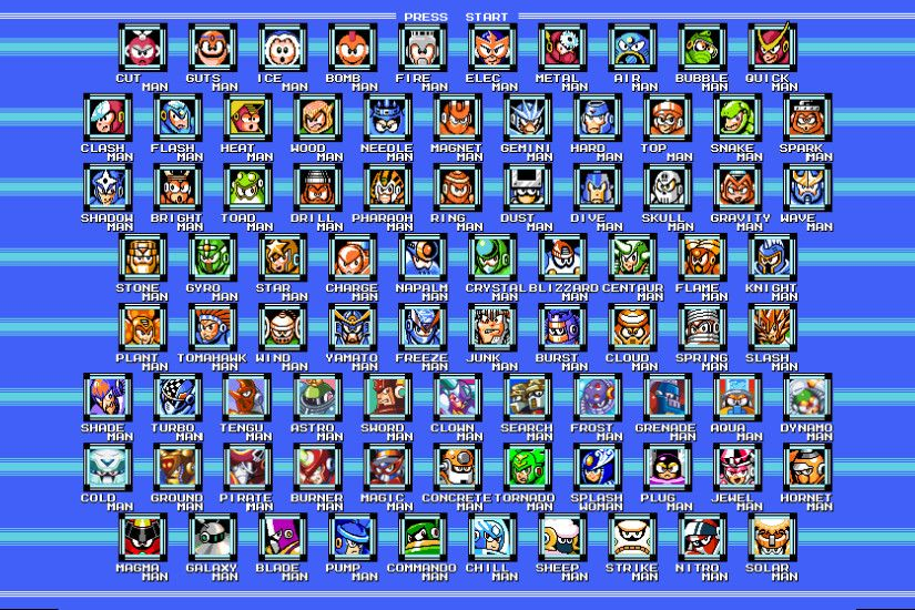 Fixed that wallpaper with all the robot masters: 16x9, all the MM10 bosses  and room for MM11 if it ever happens ...