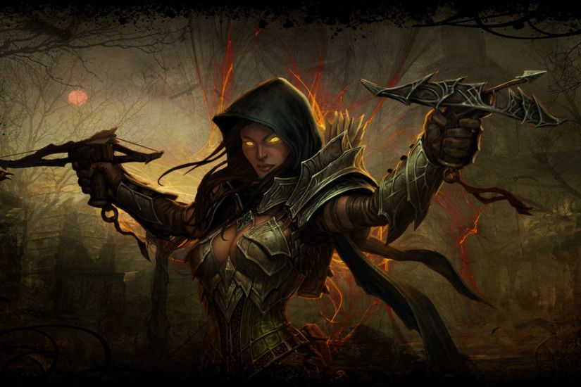 diablo 3 demon hunter background by cursedblade1337 fan art wallpaper .