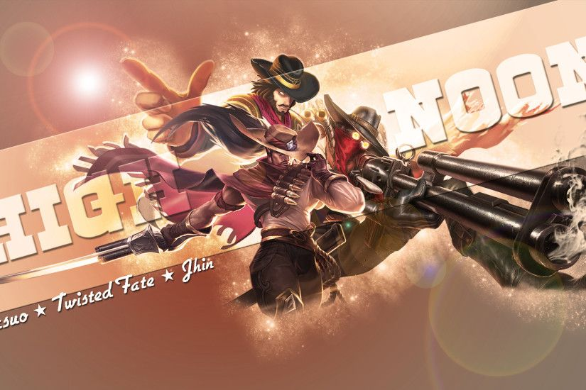 High Noon Jhin, Yasuo & Twisted Fate by Brumskyy HD Wallpaper Background  Fan Art Artwork