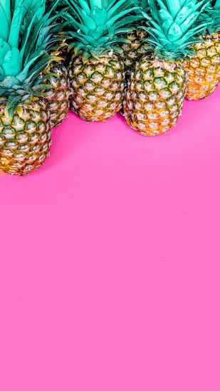 colorful wallpaper pineapple