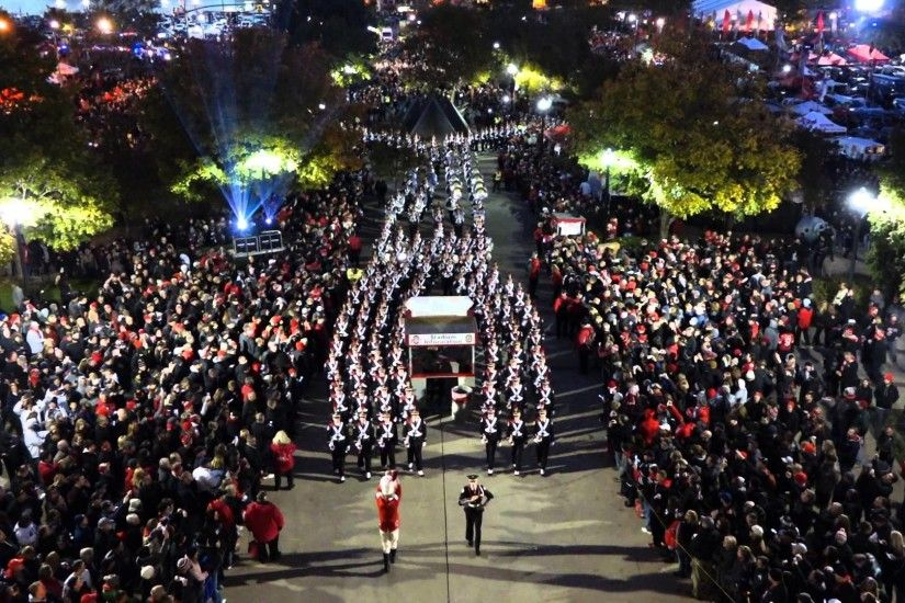 Ohio State Marching Band Marches to the Shoe on Blackout Night shot from  Rotunda 10 17 2015 - YouTube