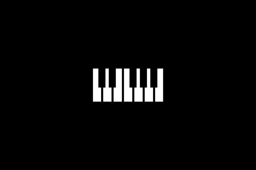 Piano keys, black background