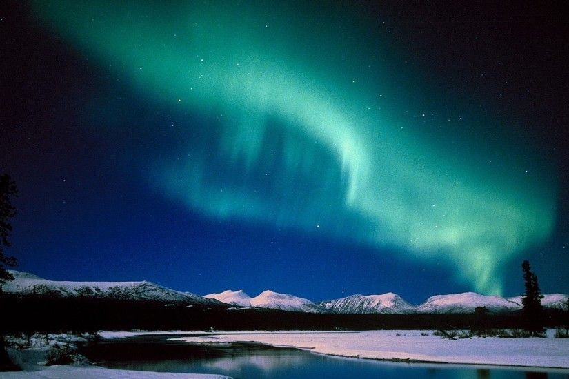 Aurora Borealis Canada Magnetic Field Skies Nighttime Nature Sky Background  Wallpaper