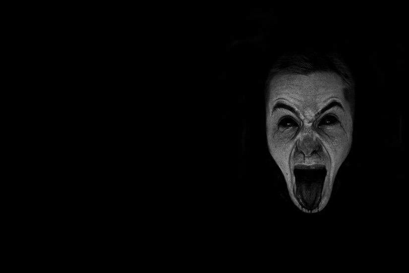 Gothic Women Face | dark horror gothic mood scream expression evil face  wallpaper .