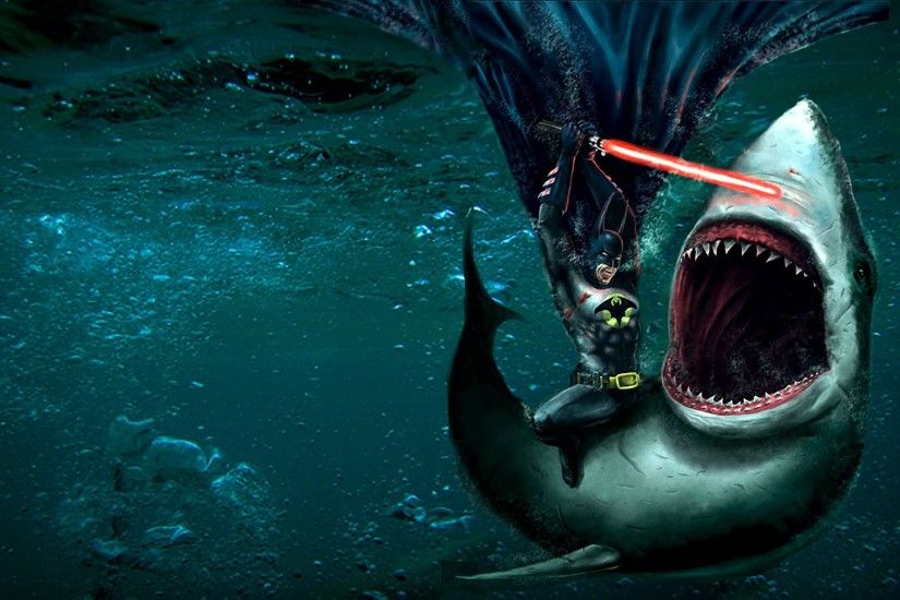 Batman Flashpoint Great White Shark Lightsabers Sharks Underwater ...