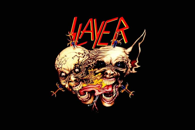 SLAYER death metal heavy thrash dark skull wallpaper | 1920x1200 | 426977 |  WallpaperUP