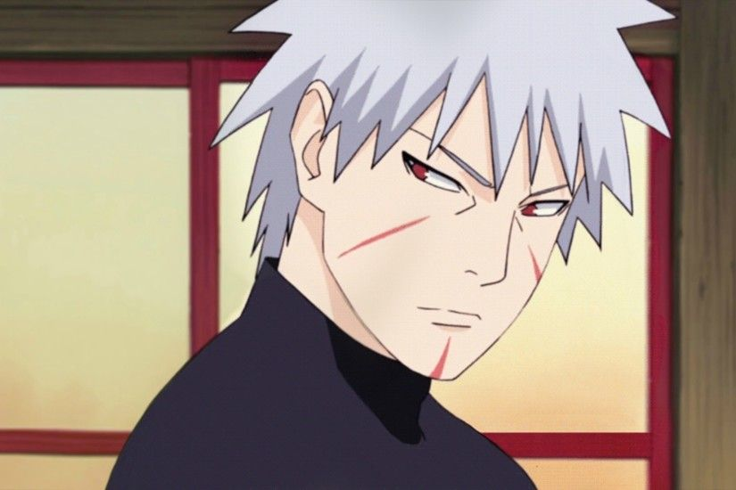 Tobirama Senju, Grey Hair, Red Eyes, Boy, Anime