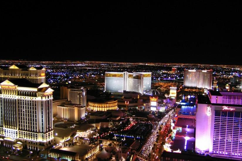 Preview wallpaper las vegas, night, hotels, roads, cars 1920x1080