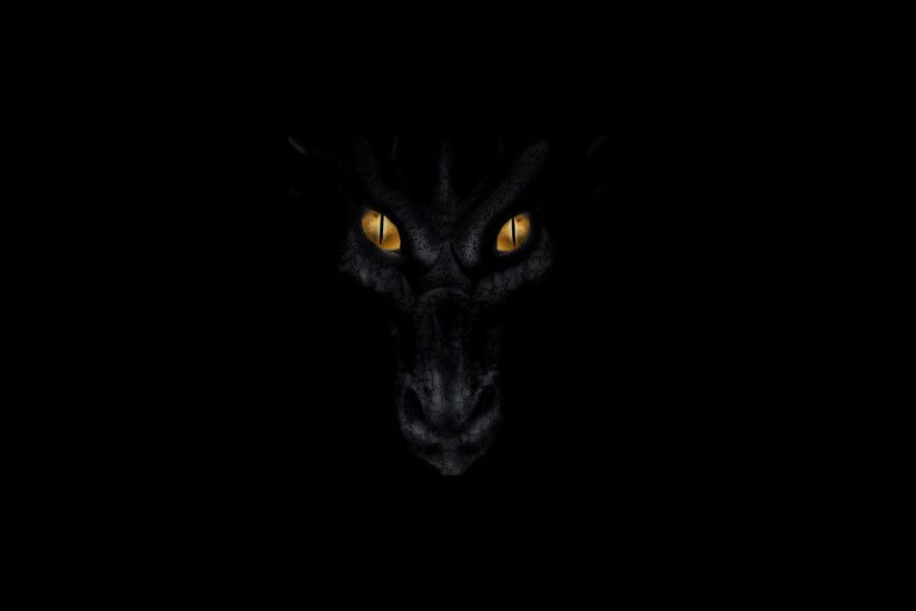Black dragon HD Wallpaper 1920x1080