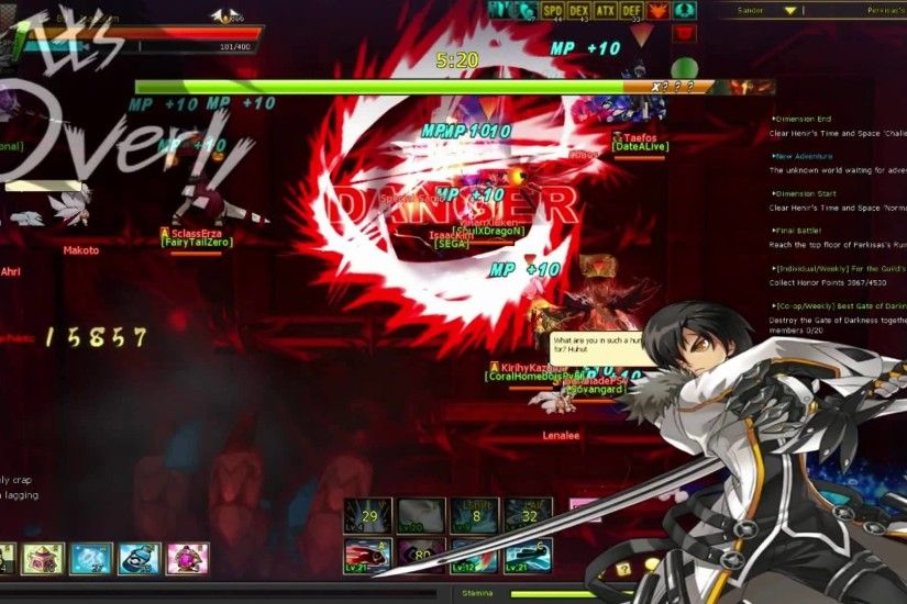 「ELSWORD」 Blade Master Perkisas play (No Party) - YouTube