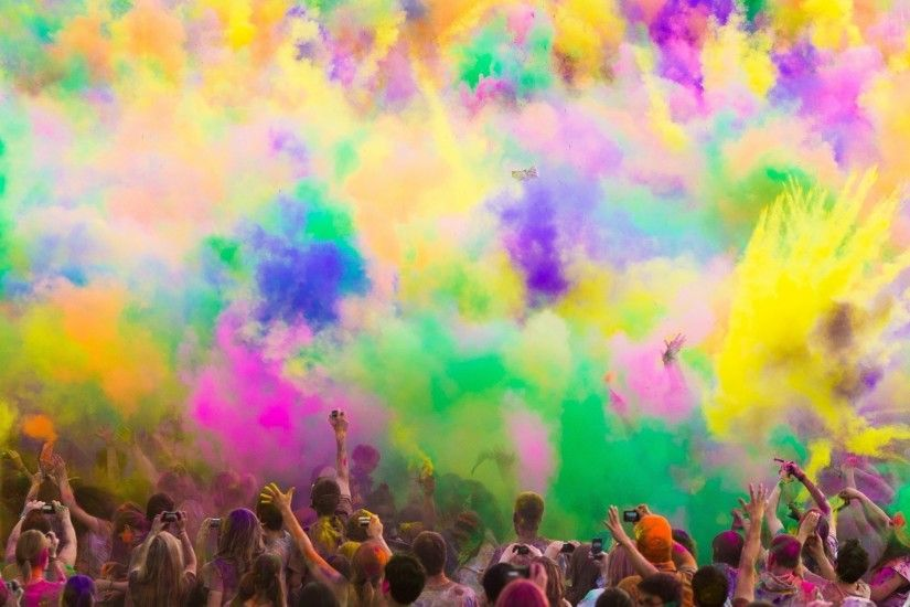 Multicolor artwork holi colors wallpaper