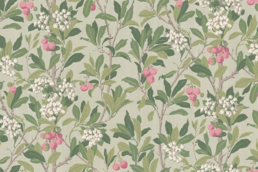 Traditional wallpaper / chinoiserie / printed 100/10048 STRAWBERRY TREE  Cole&Son ...
