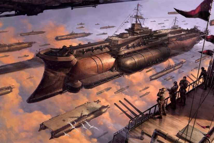 Steampunk Flying Ships