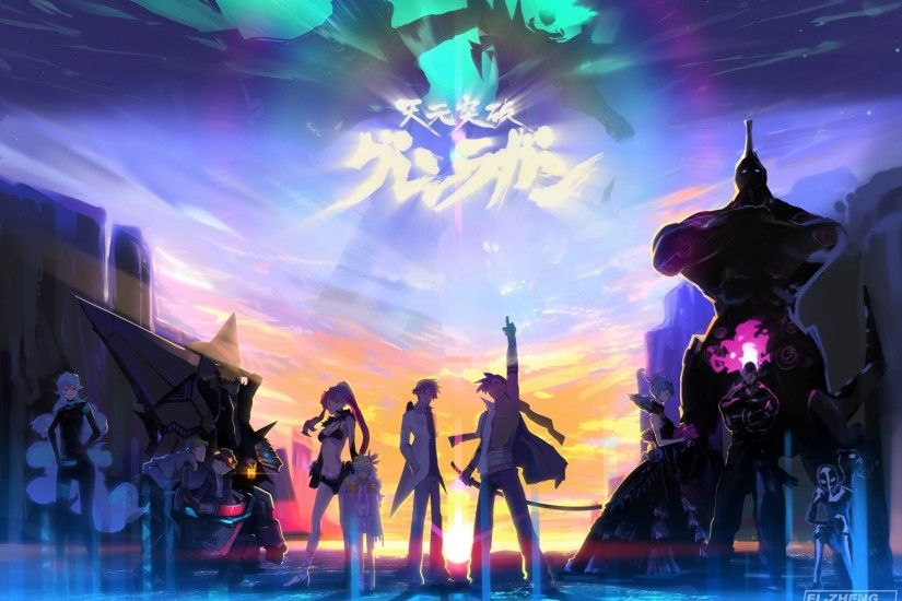 Download Gurren Lagann Wallpapers Desktop High.